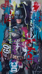 Batman II by Zinsky - Original Painting on Stretched Canvas sized 23x40 inches. Available from Whitewall Galleries